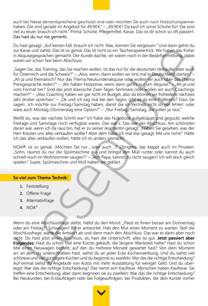 Ebook Sack Zu Abschlusssicher verkaufen Leseprobe1