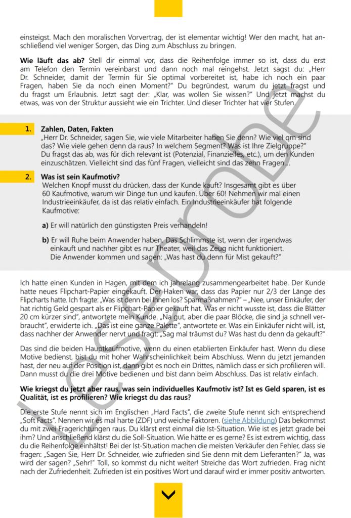 Ebook Sack Zu Abschlusssicher verkaufen Leseprobe3